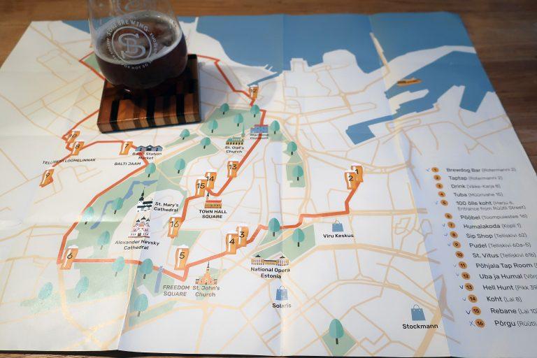 Tallinn Craft Beer Map